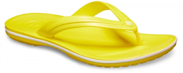 Crocband Flip Lemon / White Croslite