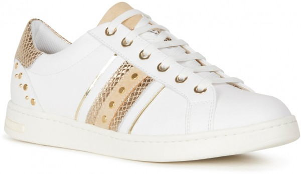 Jaysen A - White / Gold nappa leather