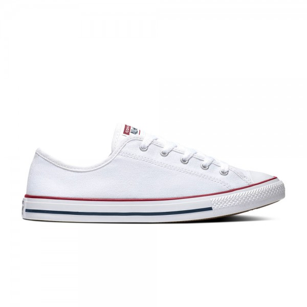 Chuck Taylor All Star Dainty - Ox - White / Red / Blue Canvas