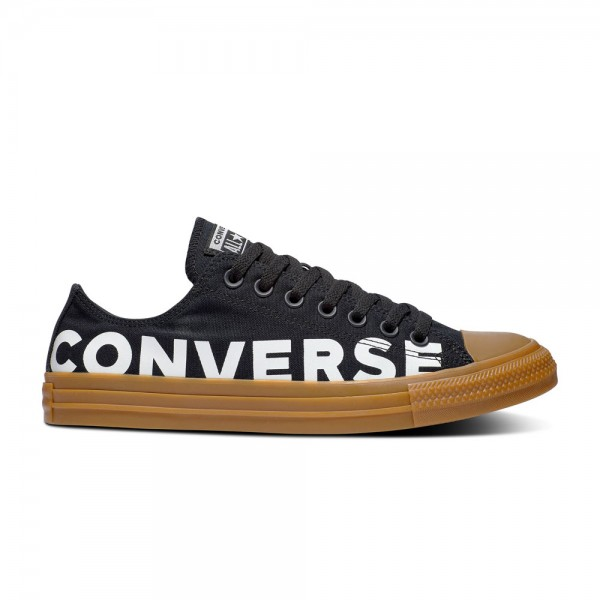 Chuck Taylor All Star Wordmark and Camo Ox Black / Black / Gum Honey Canvas