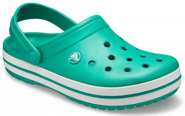 Crocband Deep Green / White Croslite