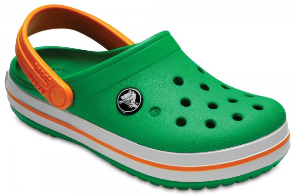 Crocband Clog Kids Grass Green / White / Blazing Orange Croslite