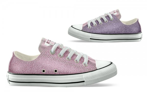 Chuck Taylor All Star Kids - Ox - Cherry Blossom / Washed Purple Canvas