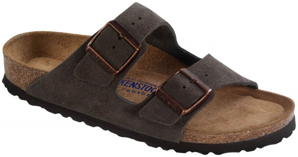 Arizona Mocca Soft Footbed suede leather