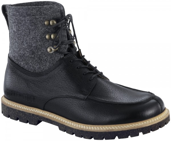 Timmins High Black natural leather