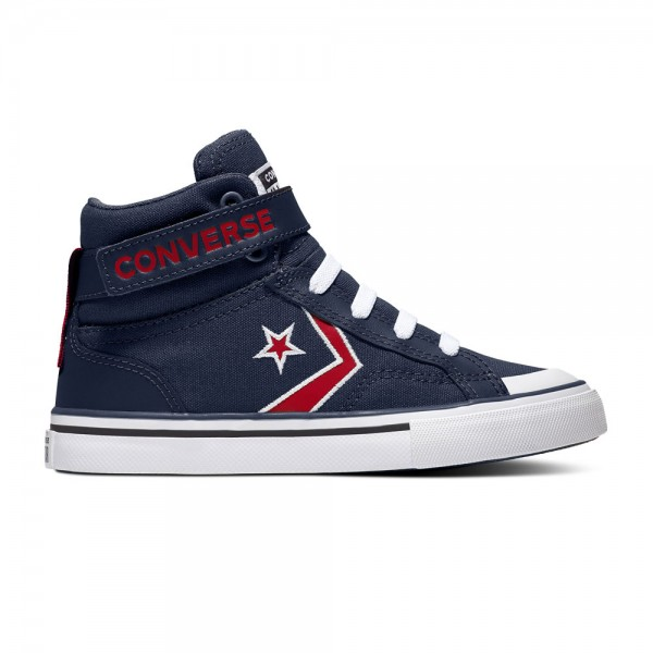 Pro Blaze Strap Kids - Hi - Obsidian / University Red / White Canvas