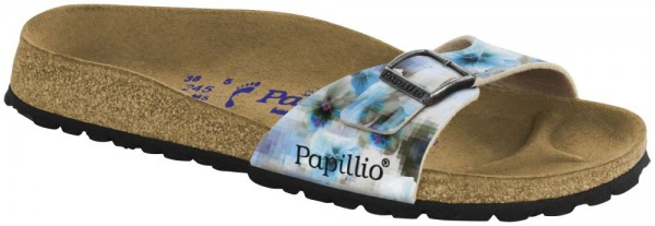 Madrid Pixel Blue Soft Footbed Birko-Flor