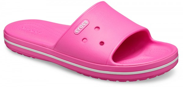 Crocband III Slide Electric Pink / White Croslite