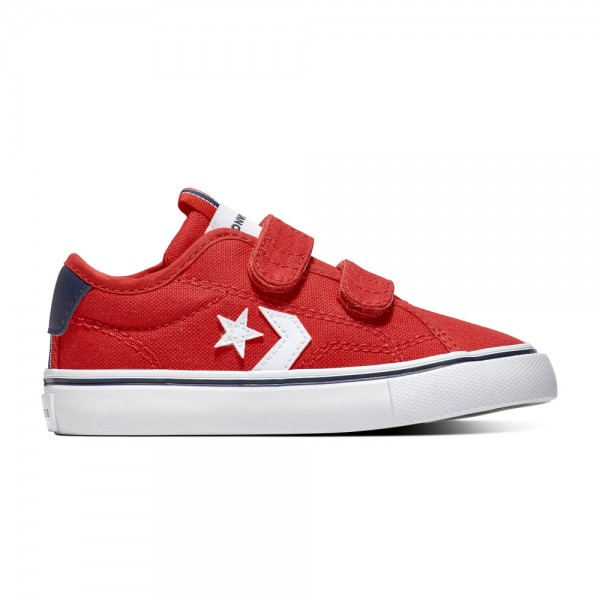 Converse Star Replay 2v Kids - Ox - University Red / Obsidian / White Canvas