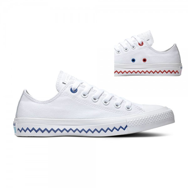 Chuck Taylor All Star - Ox - White / University Red / Rush Blue Canvas