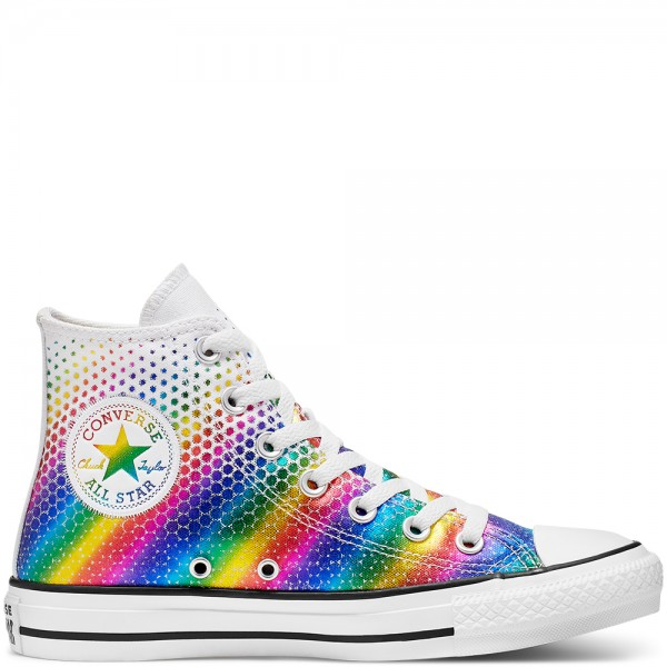 Chuck Taylor All Star Kaleidoscope Hi White / Multi / White Canvas