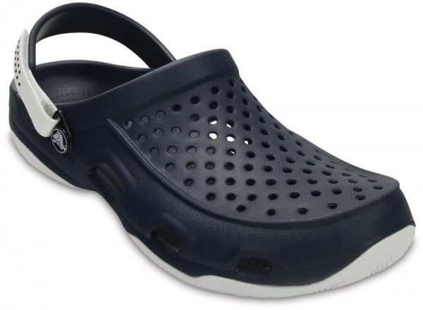 Swiftwater Deck Clog Navy / White Croslite
