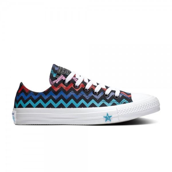 Chuck Taylor All Star - Ox - Black / Peony Pink / Rapid Teal Canvas