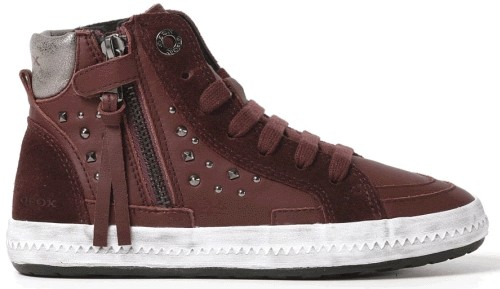 Geox Witty - Dark Red leather/velours