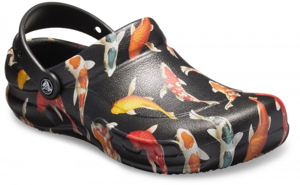 Bistro Graphic Clog Black / Tangerine Croslite