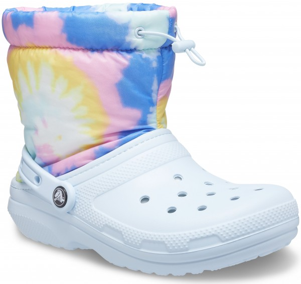 Classic Lined Neo Puff Tie Dye Boot Mineral Blue Croslite