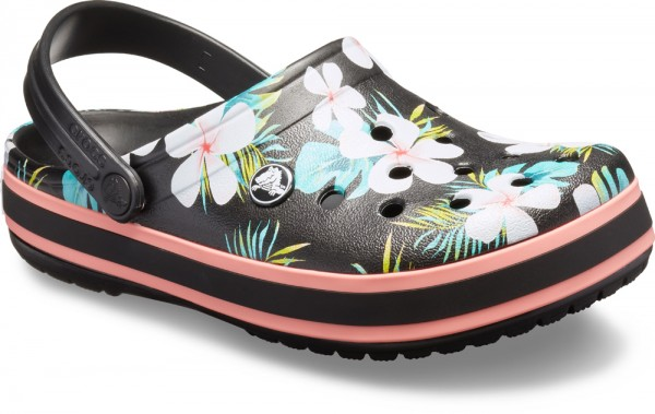 Crocband Seasonal Graphic Clog Black / Floral Croslite