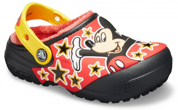 Funlab Disney Mickey Mouse Lined Clog Kids Black Croslite
