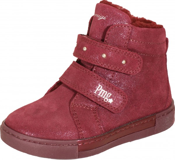 Psd 84307 - Dark red suede leather