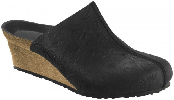 Dolores Relief Black natural leather