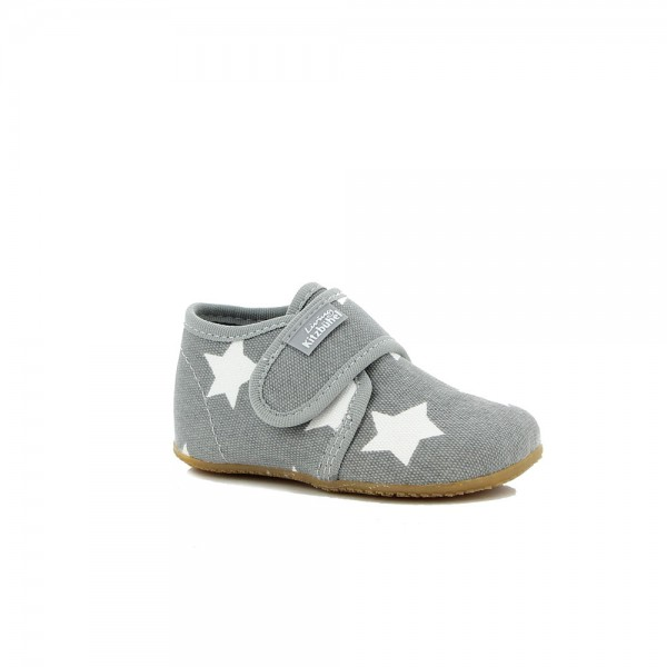 Babyklett Sterne Light grey Wool
