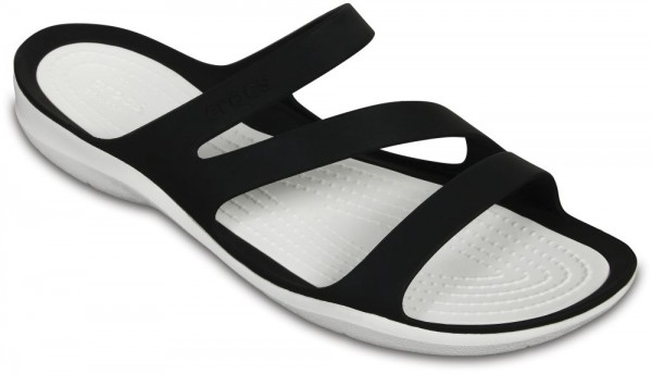 Swiftwater Sandal Black / White Croslite