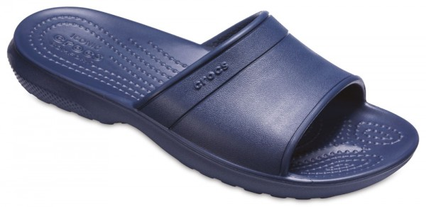Classic Slide Kids Navy Croslite