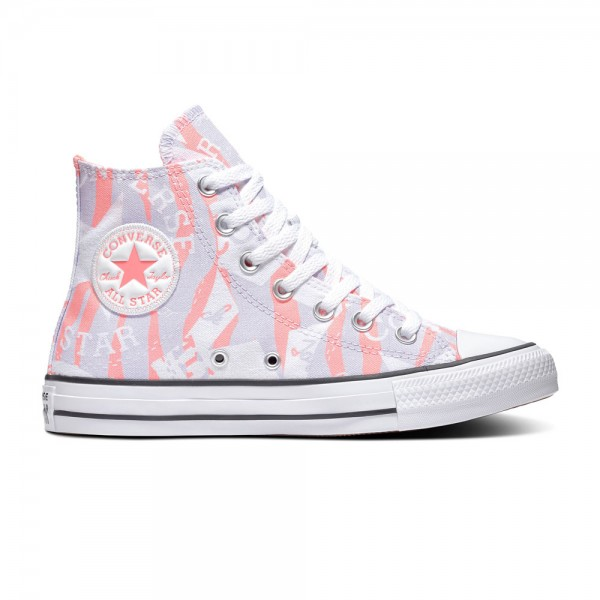 Chuck Taylor All Star - Hi - Electric Blush / Multi / White Canvas