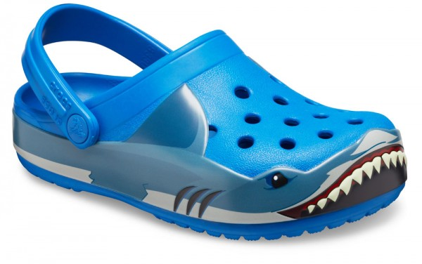 FunLab Shark Band Clog Kids Bright Cobalt Croslite