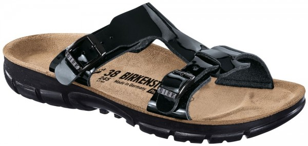 Sofia Black Patent Soft Footbed Birko-Flor