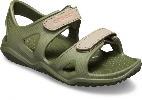 Swiftwater River Sandal Kids Army Green Croslite