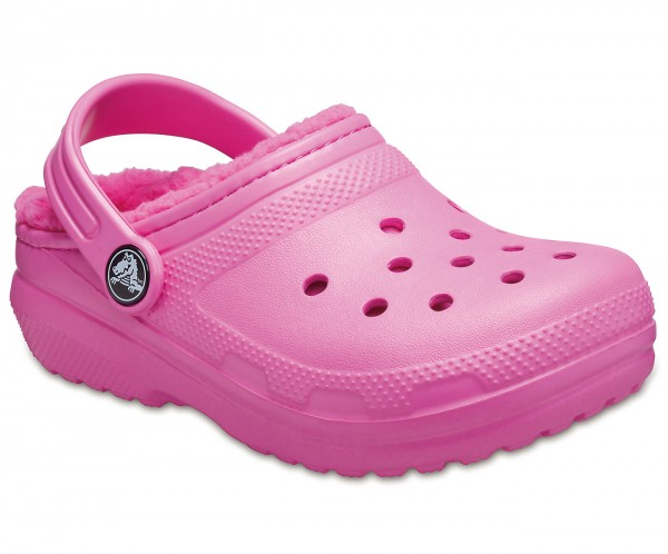 Classic Lined Clog Kids Electric Pink Croslite