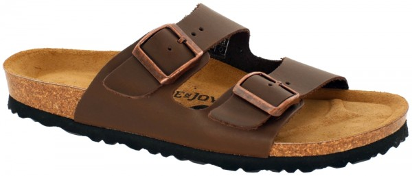 London Brown Soft Footbed oiled leather