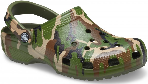 Classic Printed Camo Clog Army Green/Multi Croslite