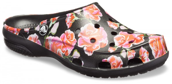 Rose Clog Croslite Freesail Multi Graphic Black zCxqn7O