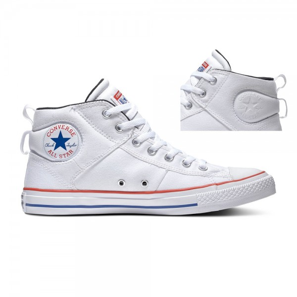 Chuck Taylor All Star Cs - Mid - White / University Red / Rush Blue Canvas