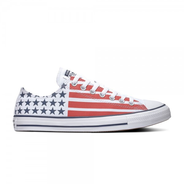 Chuck Taylor All Star - Ox - White / Obsidian / University Red Canvas