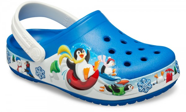 FunLab Playful Penguin Clog Kids Bright Cobalt Croslite