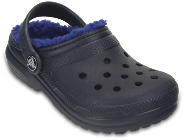 Classic Lined Clog Kids Navy / Cerulean Blue Croslite