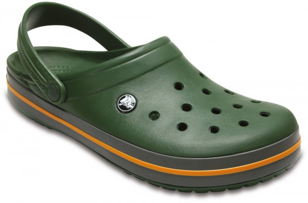 Crocband Forest Green / Slate Grey Croslite