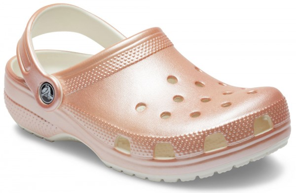 Classic Metallic Clog Kids Rose Gold Croslite