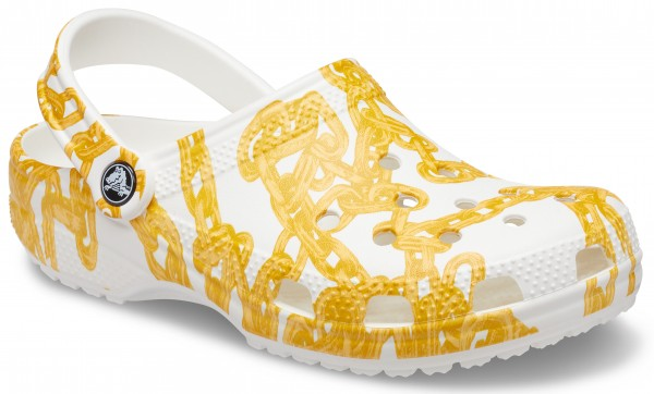 Classic Chain Graphic Clog White Croslite