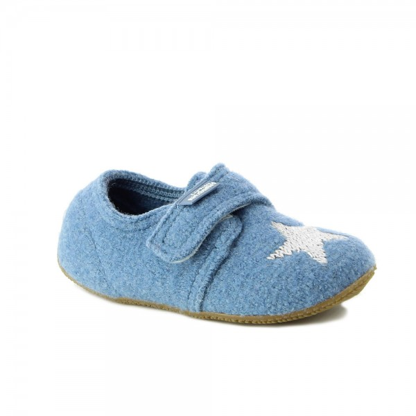 Klettschuh With Stern Blue Mountain Wool