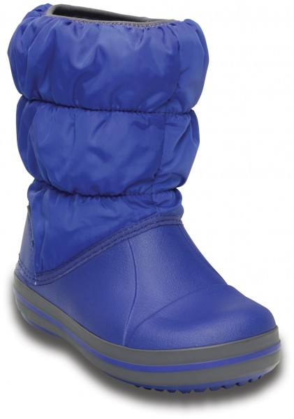 Winter Puff Boot Kids Cerulean Blue / Light Grey Croslite/Textil