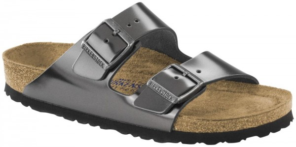 Arizona Metallic Anthracite Soft Footbed smooth leather