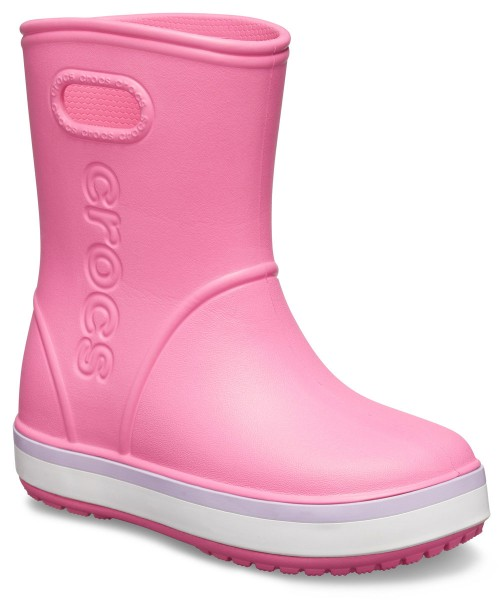 Crocband Rain Boot Kids Pink Lemonade / Lavender Croslite