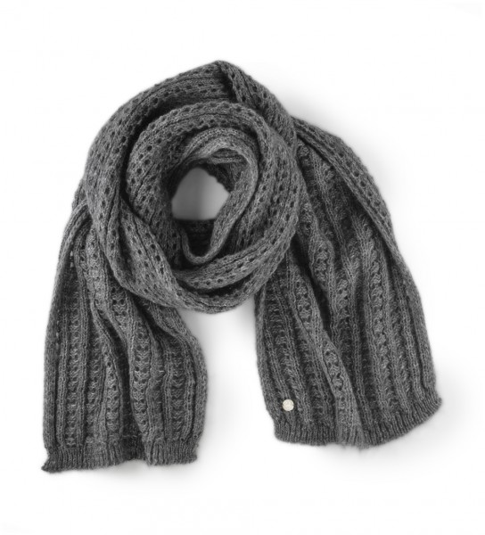 Fashion Ajour Scarf Women Dark grey