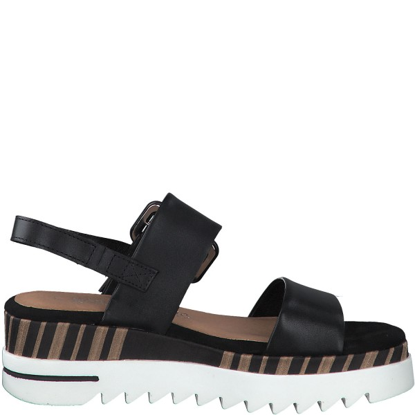 Sandalette - By Gmk - Black smooth leather