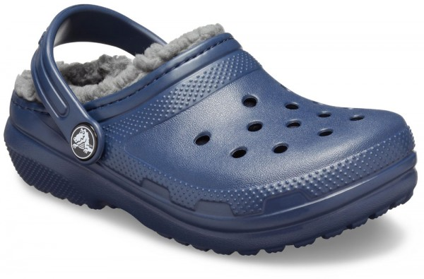 Classic Lined Clog Kids Navy / Charcoal Croslite