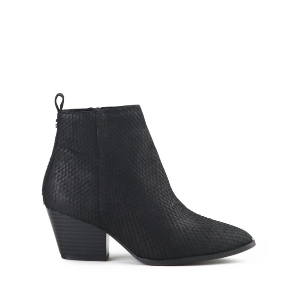 Milana - Ankle-Boot - Snake - Black Boxcalf leather